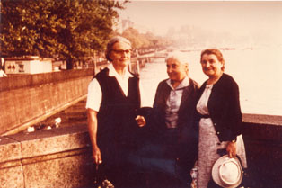 M. Horáková, M. Pilbauerová and O. Fierzová in Switzerland, in 1967.